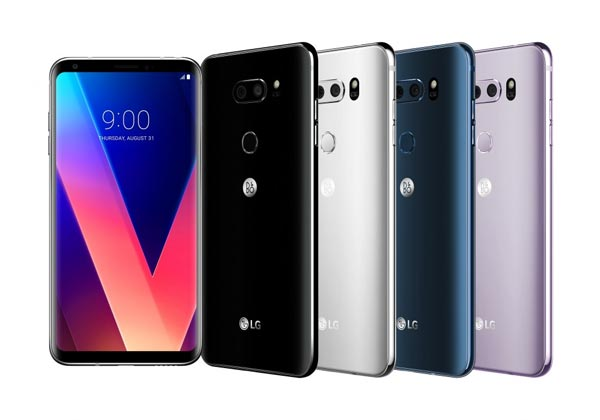 The LG V30 is available in these colors.