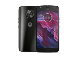 The Motorola Moto X4 smartphone in black.