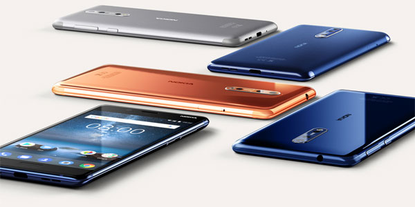 The different color variants of the Nokia 8.