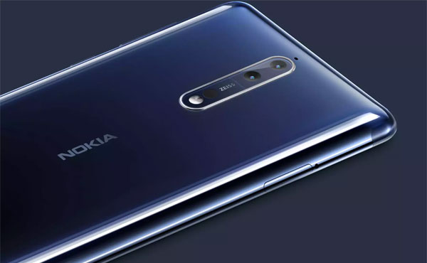 The dual rear cameras of the Nokia 8.