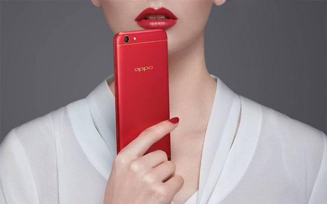 This is the OPPO F3 Red Edition!