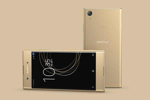 The Sony Xperia XA1 Plus in gold.