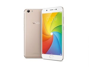 The Vivo Y69 smartphone in gold.