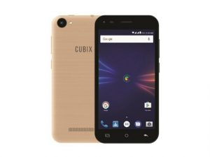 The Cherry Mobile Cubix Play HD smartphone in gold.