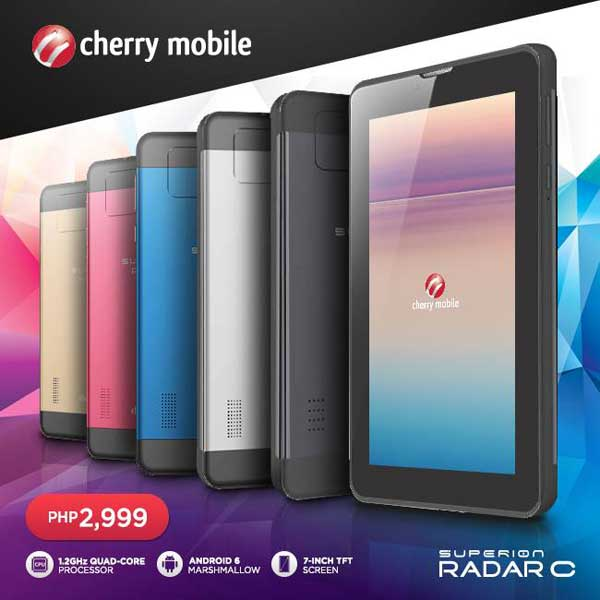 There are five color options for the Cherry Mobile Superion Radar C tablet.