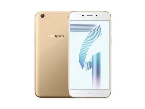 The OPPO A71 smartphone in gold.