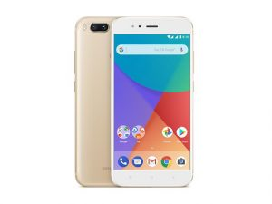 ce2c17307 The Xiaomi Mi A1 smartphone in gold.
