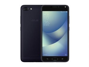 The ASUS Zenfone 4 Max Pro smartphone in black.