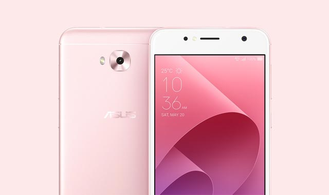 The ASUS Zenfone 4 Selfie Lite smartphone in pretty pink color.
