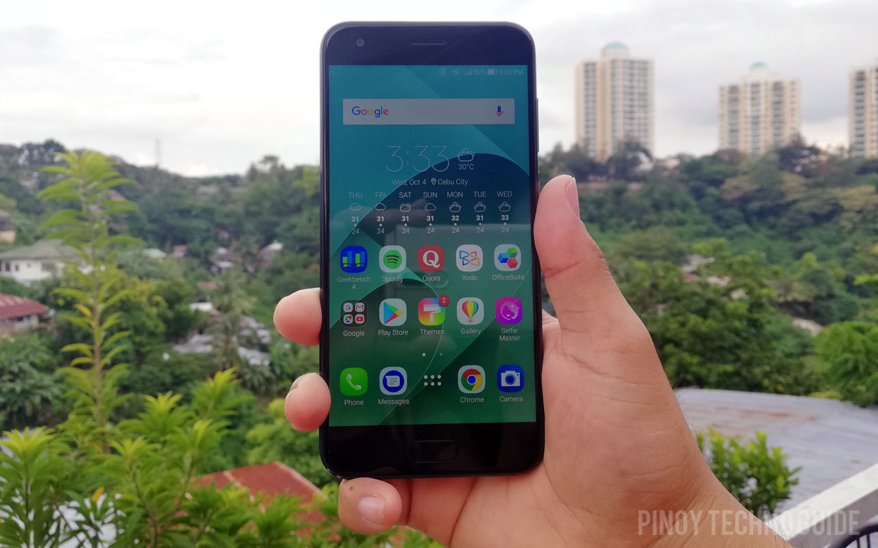 Hands on with the ASUS Zenfone 4 smartphone.