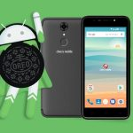 The Android Oreo mascot together with the Cherry Mobile Flare S6 smartphone.