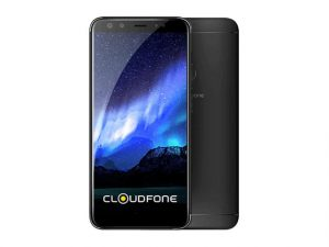 The Cloudfone Next Infinity Quattro smartphone in black.