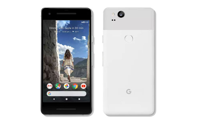 The Google Pixel 2 smartphone in 'clearly white'.