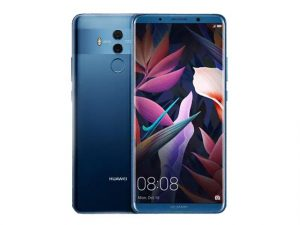 The Huawei Mate 10 Pro smartphone in blue.