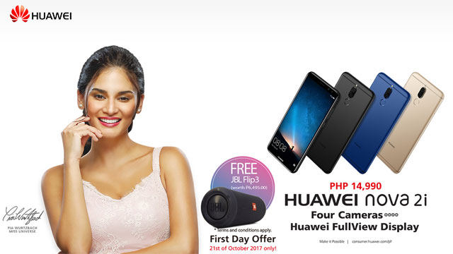 Huawei Nova 2i first day promo.