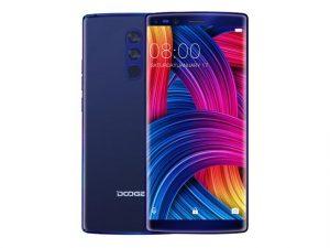 The Doogee Mix 2 smartphone in blue.
