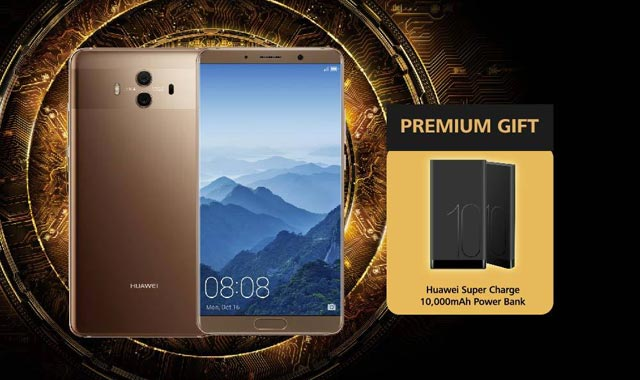 The Huawei Mate 10 with its free powerbank.
