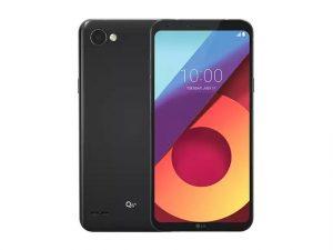 The LG Q6+ smartphone.