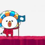 The Lazada mascot.