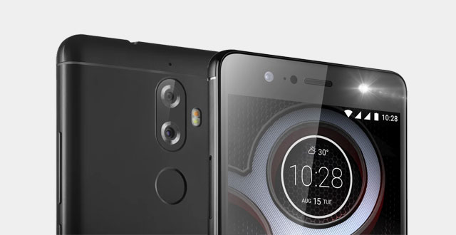 Notice the cameras of the Lenovo K8 Plus.