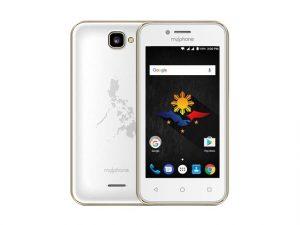The MyPhone MyA3 smartphone in white.