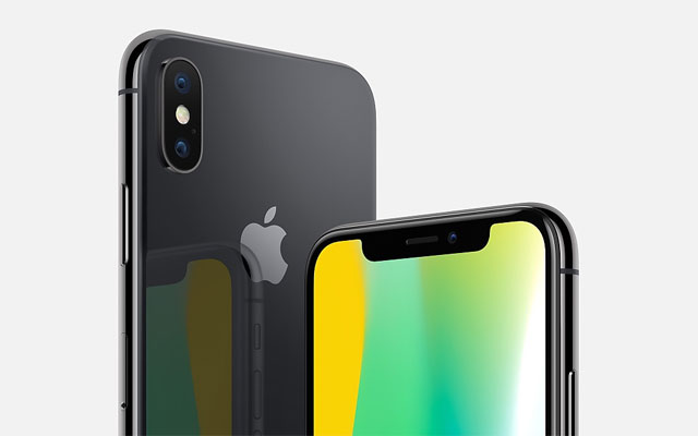 The iPhone X comes in silver and space gray color options.