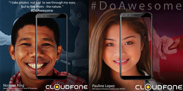 Norman King and Pauline Lopez for Cloudfone #DoAwesome.