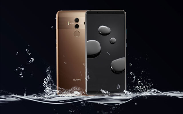 The Huawei Mate 10 Pro in mocha brown.