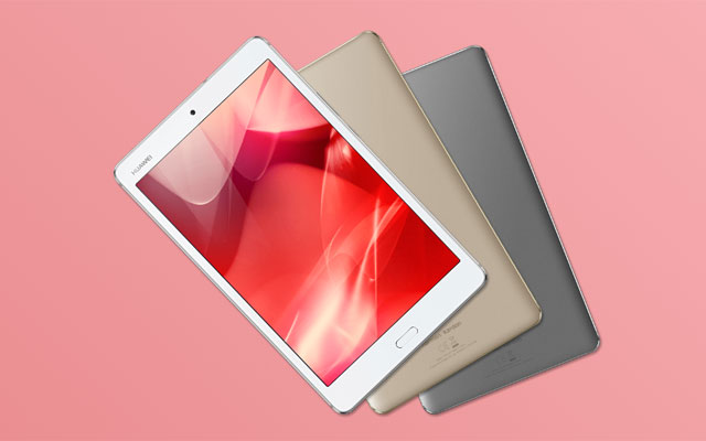 Meet the Huawei MediaPad M3 Lite in gold and gray.