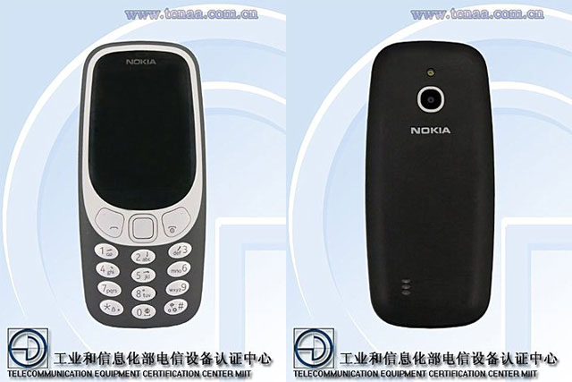 Images of the new Nokia 3310 with 4G LTE.