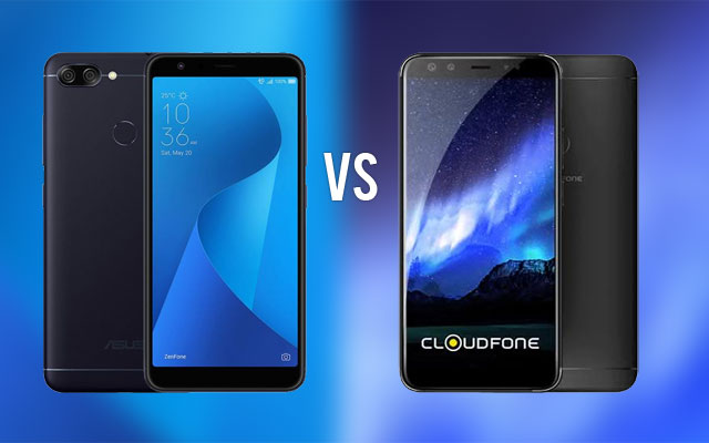 ASUS Zenfone Max Plus (left) and Cloudfone Next Infinity Quattro (right).