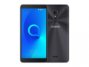 The Alcatel 3C smartphone in black.