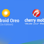 Android Oreo (Go Edition) and Cherry Mobile logos.