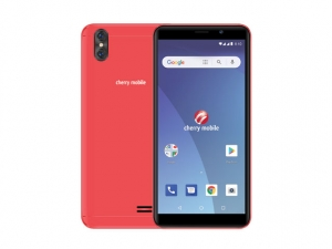 The Cherry Mobile Flare S7 Lite smartphone in red.