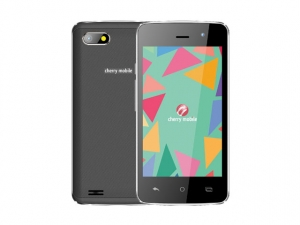 The Cherry Mobile Spin 3 smartphone in black.