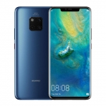 The Huawei Mate 20 Pro smartphone in blue.