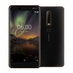 The Nokia 6 (2018) smartphone.
