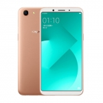 The OPPO A83 smartphone in gold.