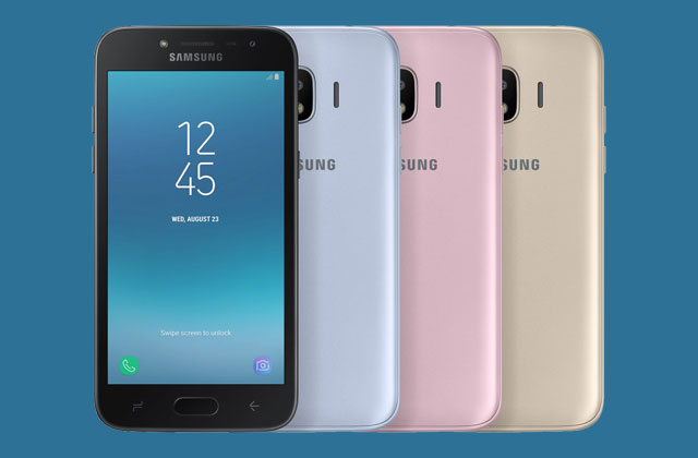 The Samsung Galaxy J2 Pro (2018) is available in these colors.