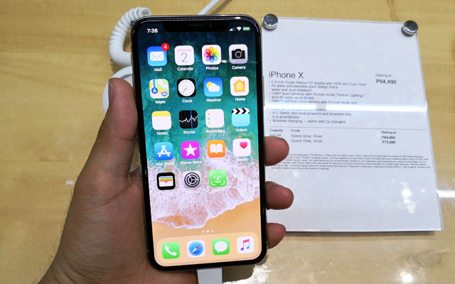The iPhone X with more than ₱50,000.00 official price.