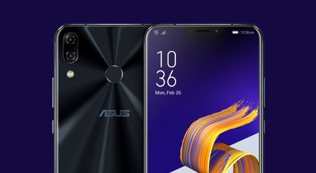 Notice the notch on the top of the Zenfone 5's display.