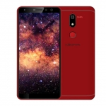 The Cloudfone Next Infinity Pro smartphone in red.