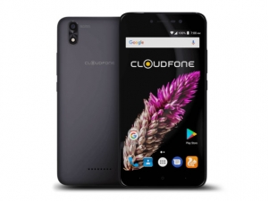 The Cloudfone Thrill View smartphone.