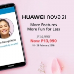 Discounted price of the Huawei Nova 2i.