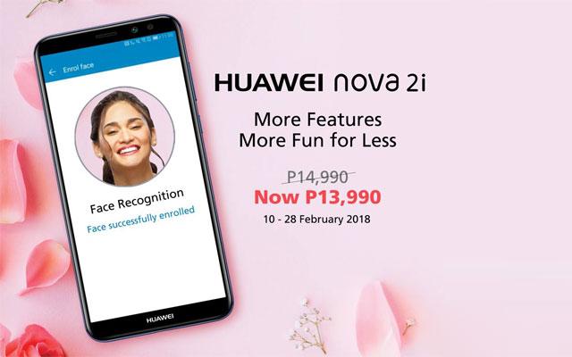 Discounted price of the Huawei Nova 2i.