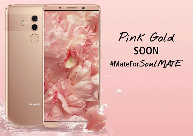 Behold the Huawei Mate 10 Pro in pink!