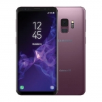 The Samsung Galaxy S9 smartphone in purple.