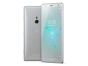 The Sony Xperia XZ2 smartphone.