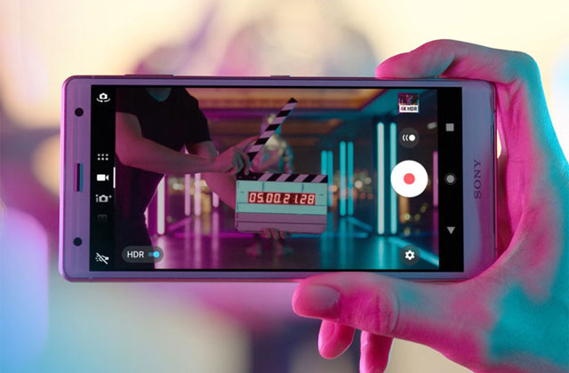 The Sony Xperia XZ2 can record 4K HDR videos.