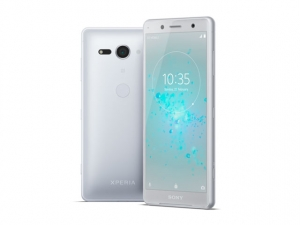 The Sony Xperia XZ2 Compact smartphone.
